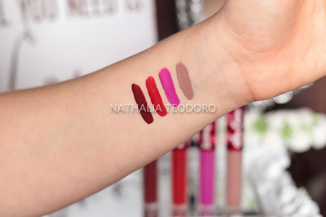 swatches velvetines lime crime