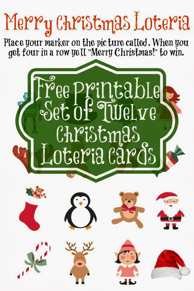 photograph regarding Loteria Game Printable known as Entertain the Complete Loved ones with Merry Xmas Loteria