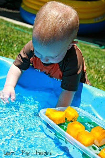 Baby and toddler safe sensory play for summer