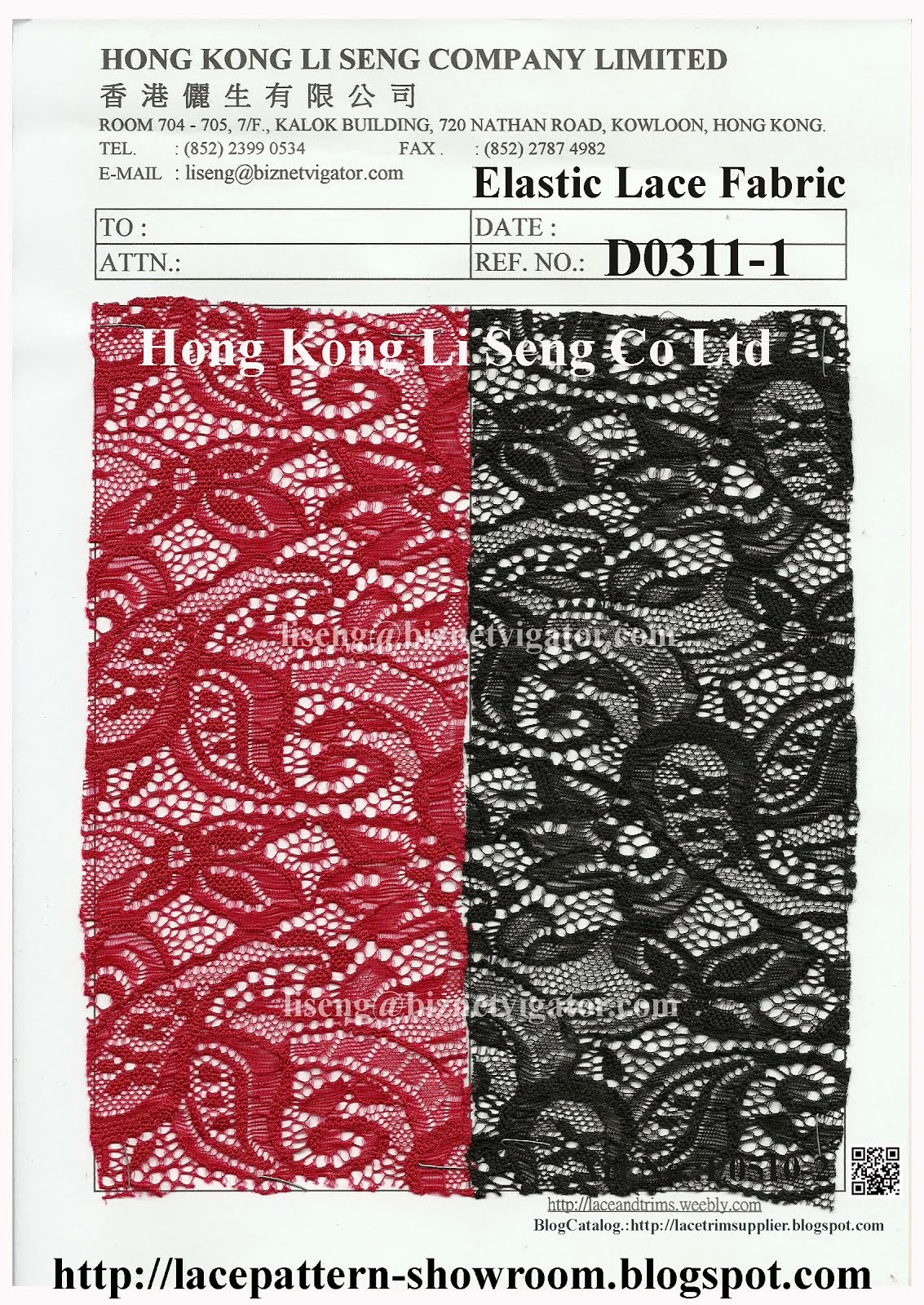 Elastic Lace Fabric - Hong Kong Li Seng Co Ltd