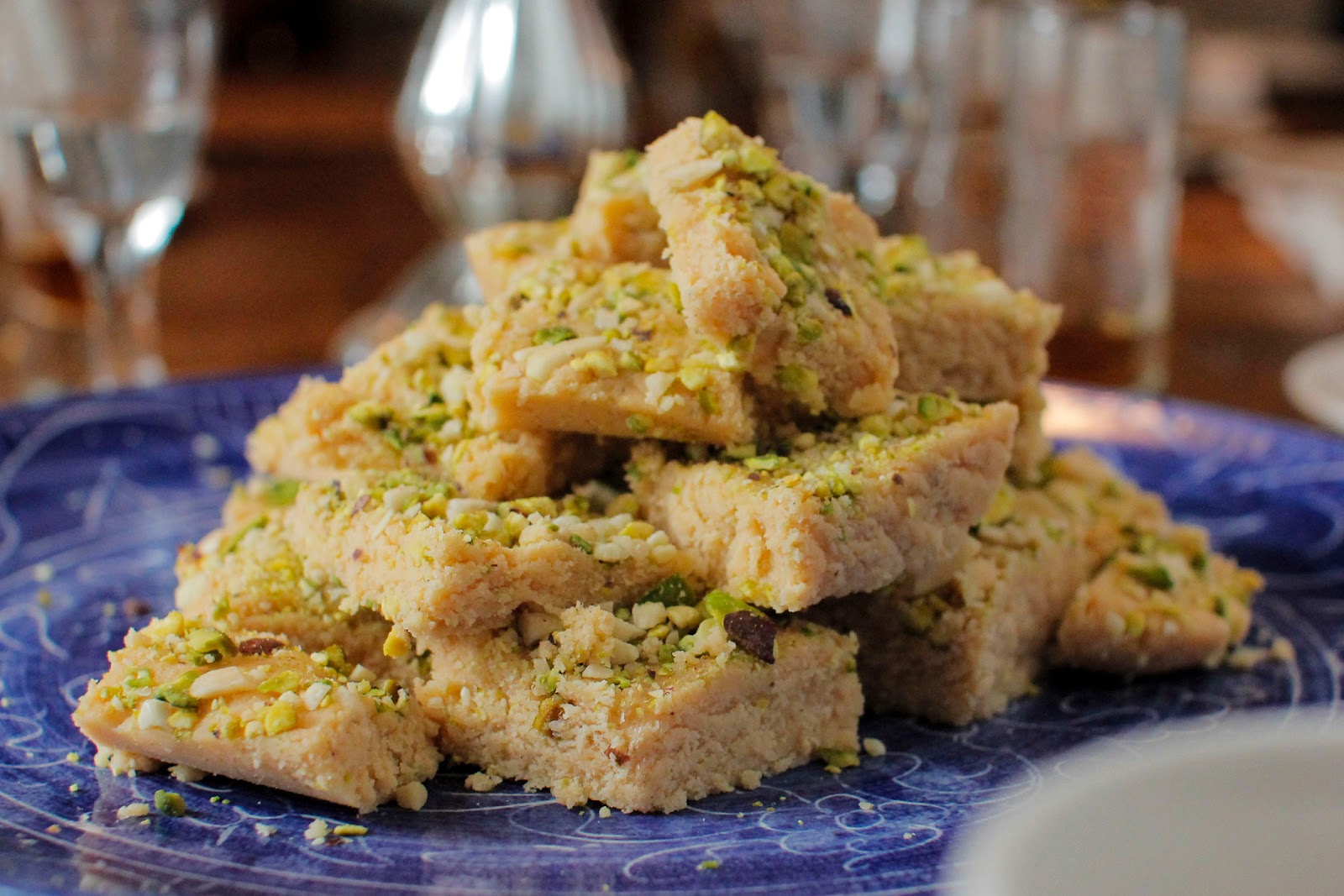 The Colors Of Indian Cooking: Almond Pistachio Fudge ...