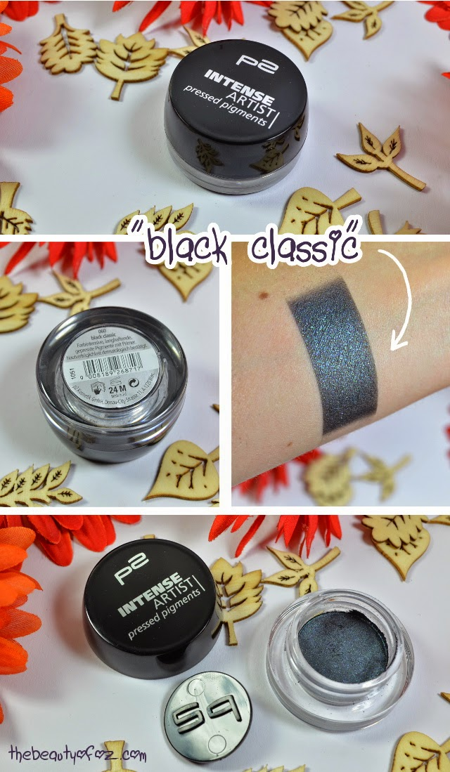 p2 Neuheiten Herbst/ Winter 2014 INTENSE ARTIST pressed pigments BLACK CLASSIC