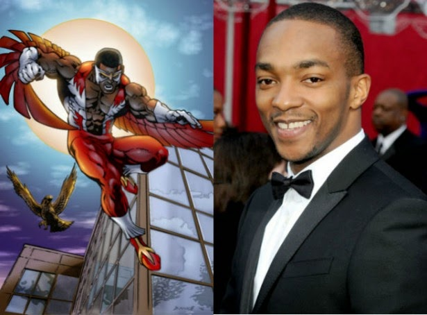 Anthony Mackie como Falcão no filme do Capitão América