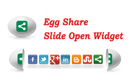 Membuat Egg Share Slide Open Widget Di Pojok Blog