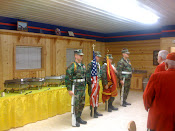 Color Guard at camp Buday