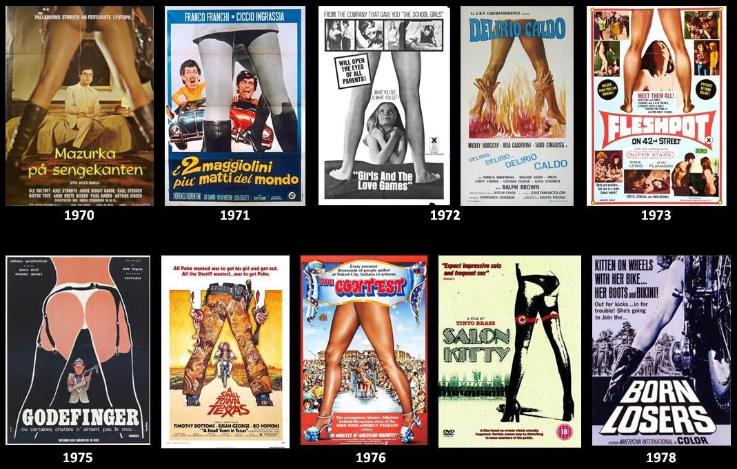 Vetustideces: Clichés gráficos del cine: encuadres entre las piernas