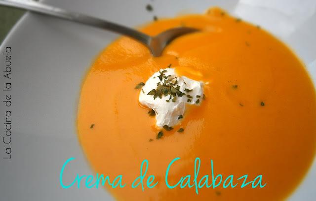 Crema de Calabaza Fácil.