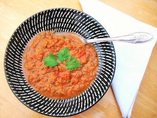 Spicy Aubgergine & Tomato Soup