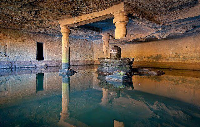 Huge ShivLing At The Kedareshwar Cave At Harishchandragad