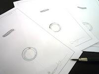 フルオーダーマリッジリング(結婚指輪)はひねりに拘りデザイン画を書いてもらった。