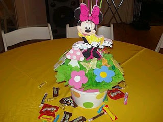 Minnie Mouse decoration, table centers