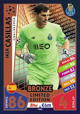 Iker Casillas Sticker 310 FC Porto Champions League 17//18