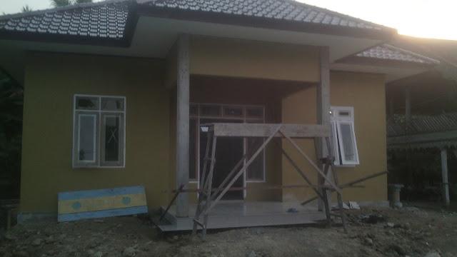 Kantor Desa Tampak Depan Gampong Teubeng Bayu Kec. Pidie Kab. Pidie-Aceh.