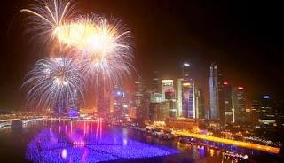 Pesta Kembang Api Tahun Baru 2014