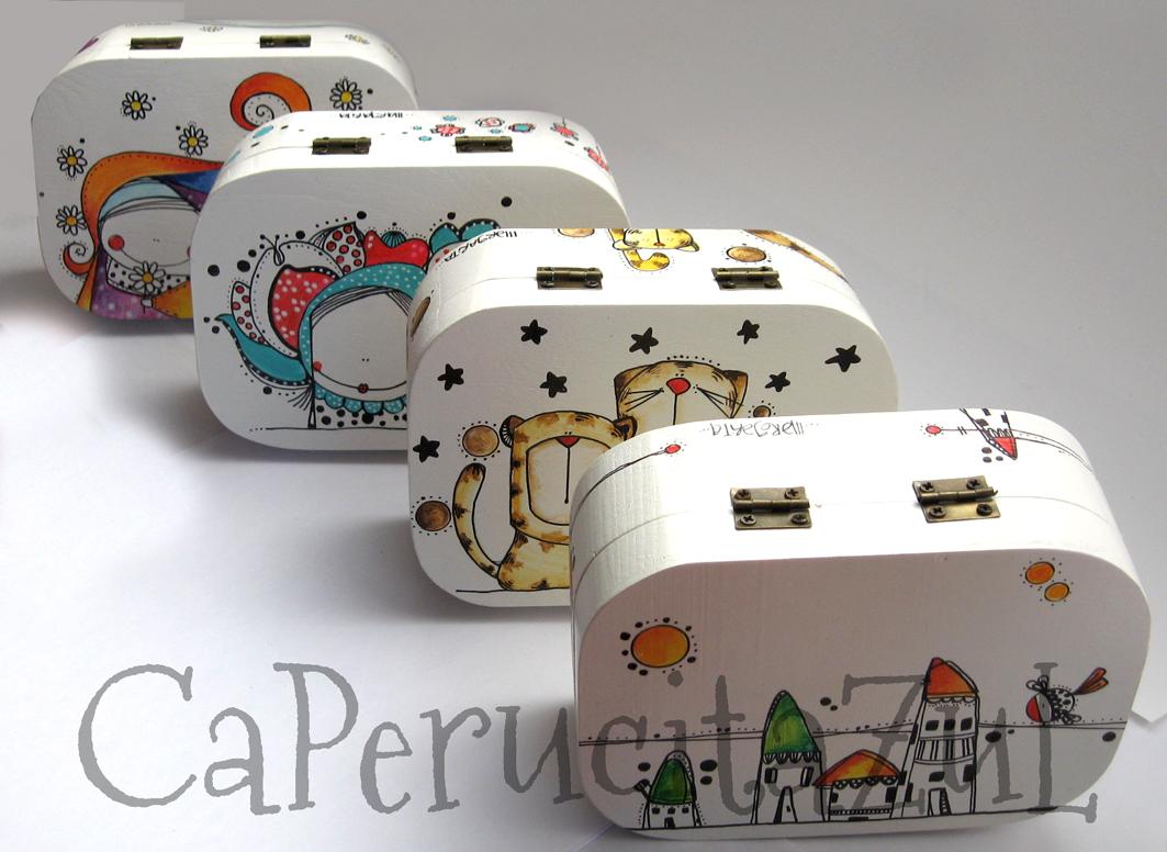 1000 images about cajas pintadas y decoradas on pinterest - Cajas de madera pintadas a mano ...