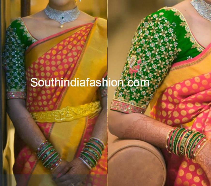 beautiful blouse for pattu sarees