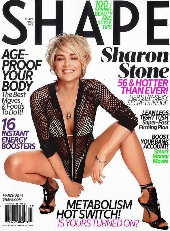 Sharone Stone in a White Bikini