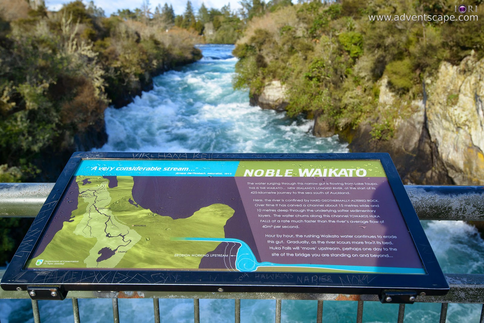 adventscape, Australian Landscape Photographer, Huka Falls, iori, New Zealand, New Zealand longest River, North Island, Philip Avellana, places to visit, Taupo, tour, tourism, travel, Waikato, waterfalls