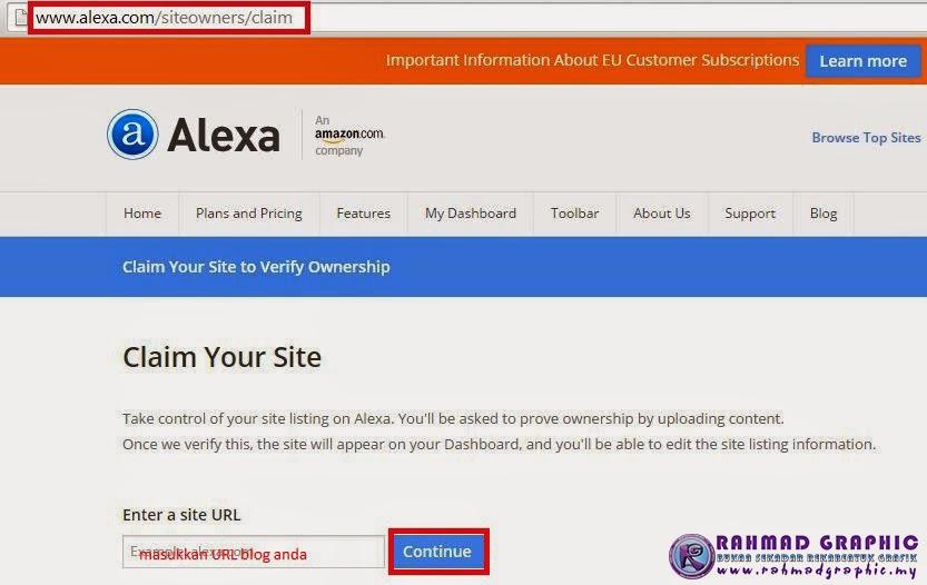 Cara Claim atau Verifikasi Blog Dengan Alexa
