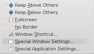 Advanced Windows Settings - KDE
