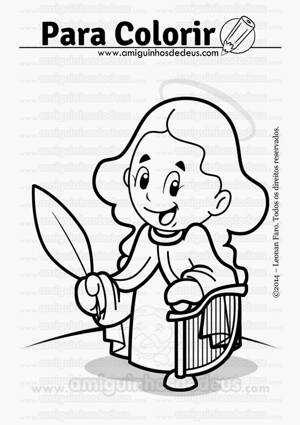 santa cecília desenho para colorir