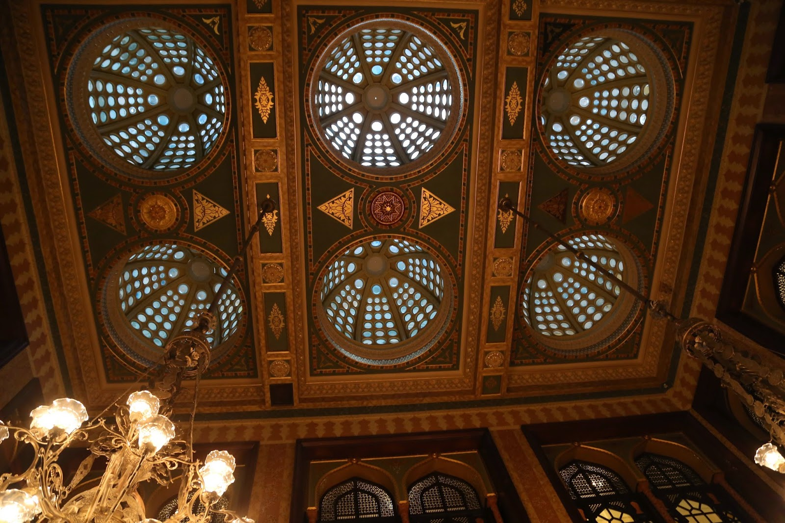 pera palace hotel, ceiling, istanbul
