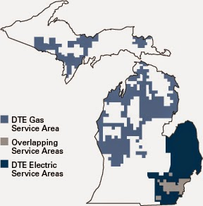 Dte Natural Gas Service Area