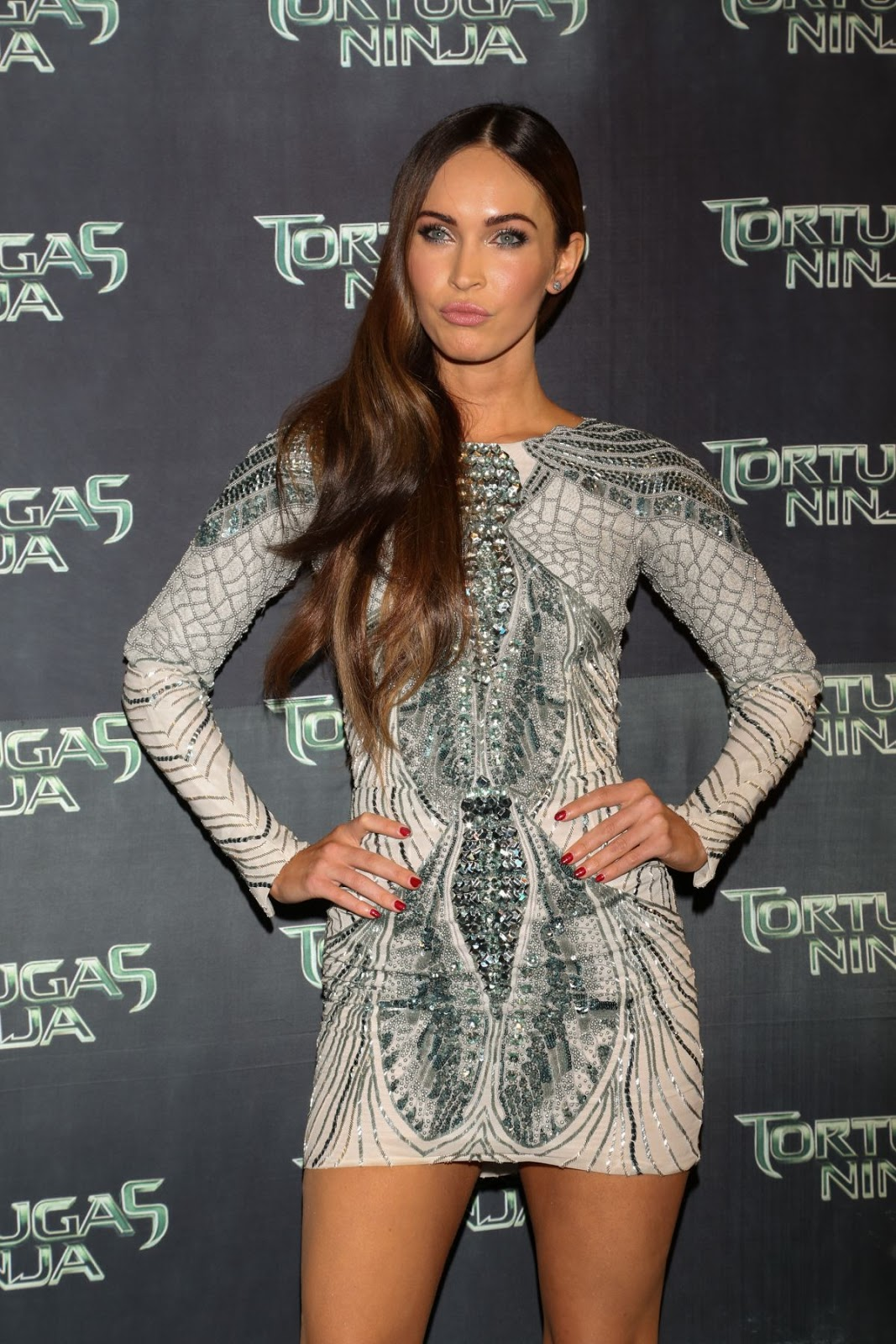 Megan Fox in Mini-dress at Teenage Mutant Ninja Turtles Mexico Premiere