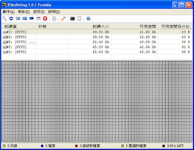 小巧卻功能強大的免費磁碟重組軟體,UltraDefrag V7.0.0 Final 多國語言綠色免安裝版!(X86+64)