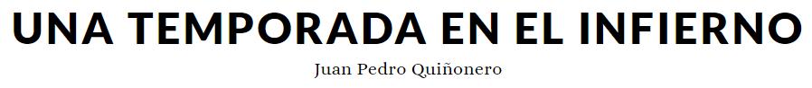 Blog de J.P. Quiñonero