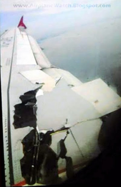 Airbus A320-232 Turkish Airlines TC-JPE Flight TK-1878 from Milan Malpensa to Istanbul Damage Seen From Window