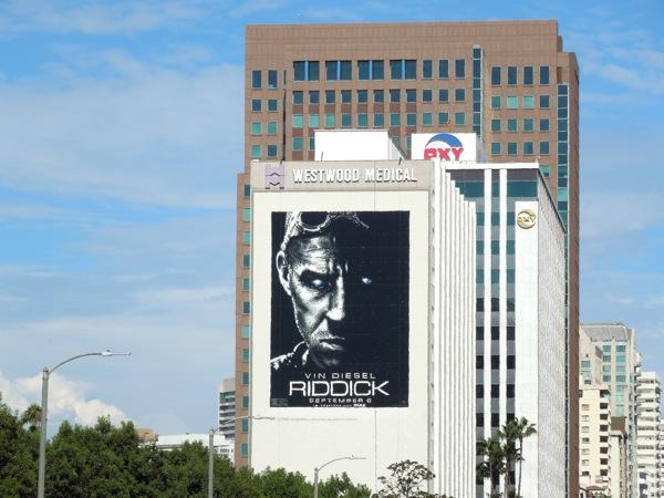 Giant Vin Diesel Riddick movie billboard