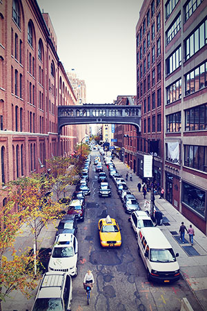New York November 2013 Straße Brücke