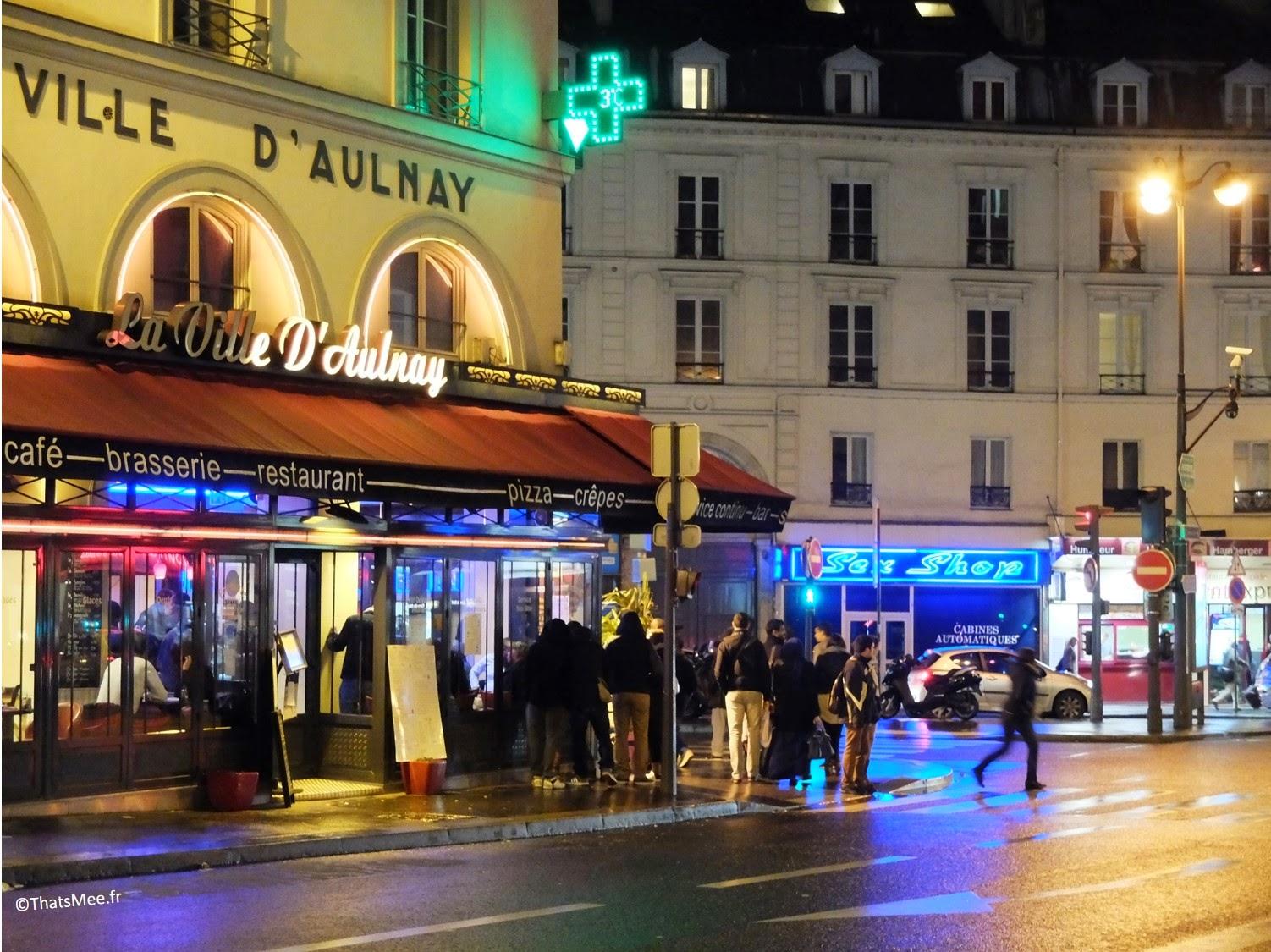 néons enseignes lumineuses café Ville d'Aulnay rue Lafayette