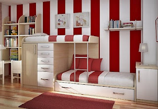 Red and white teenage bedroom ideas