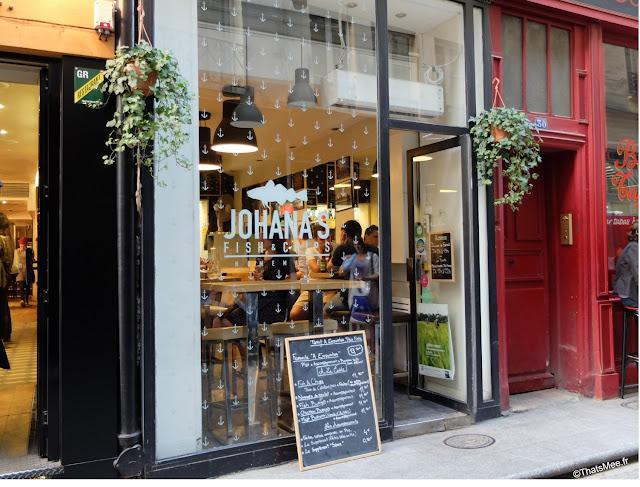 restaurant resto Johana's Fish & Chips spécialité sur place ou à emporter , Rue Saint-Sauveur à Paris 2eme bar branchés cool ThatsMee.fr