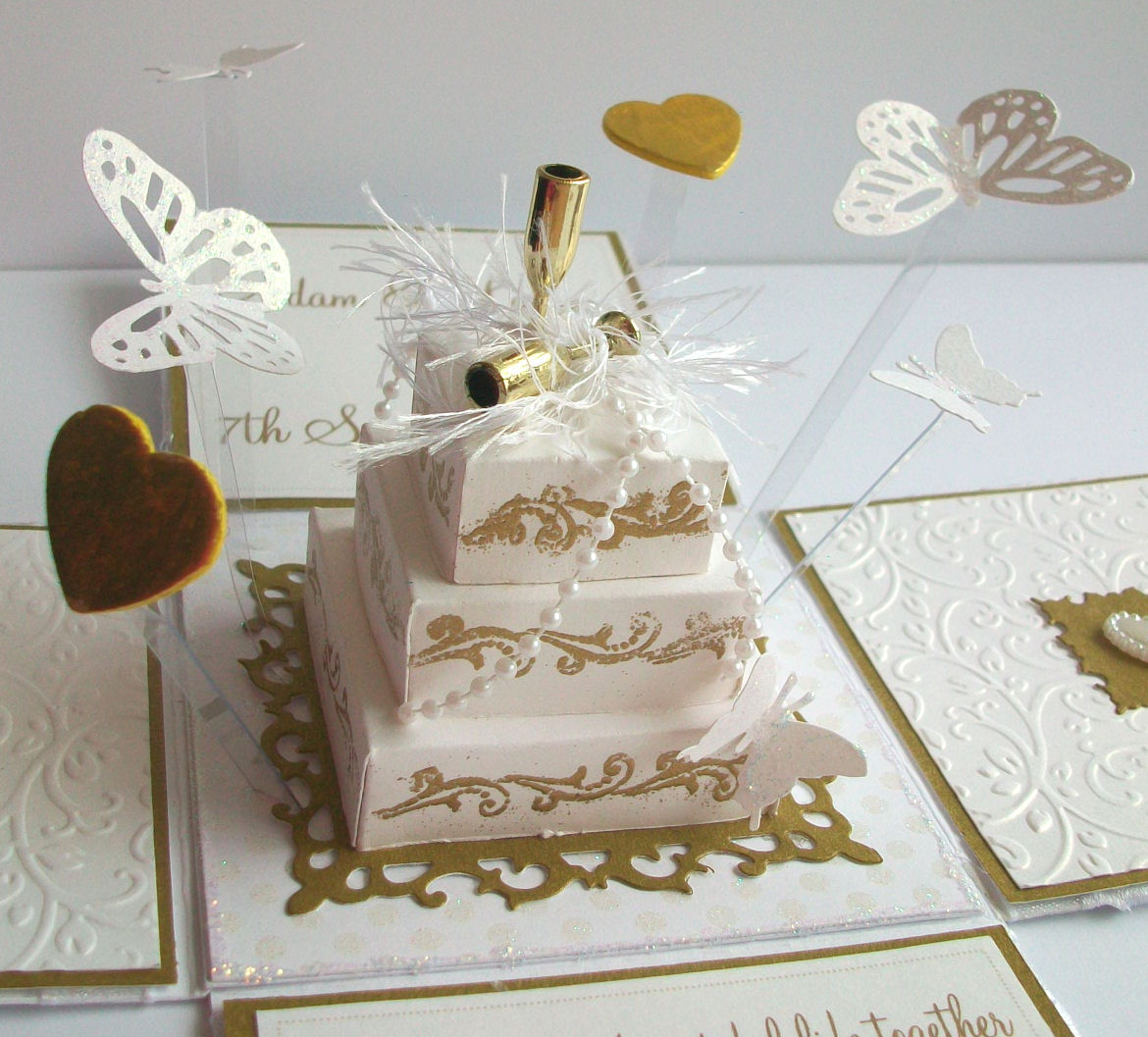 How To Make Layered Cake Pop Up Card