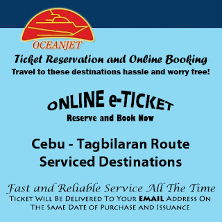 OceanJet Cebu-Tagbilaran Route Ticket Reservation and Online Booking