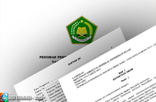 Pedoman Penerimaan Peserta Didik Baru (PPDB) RA dan Madrasah Tahun Pelajaran 2015-2016