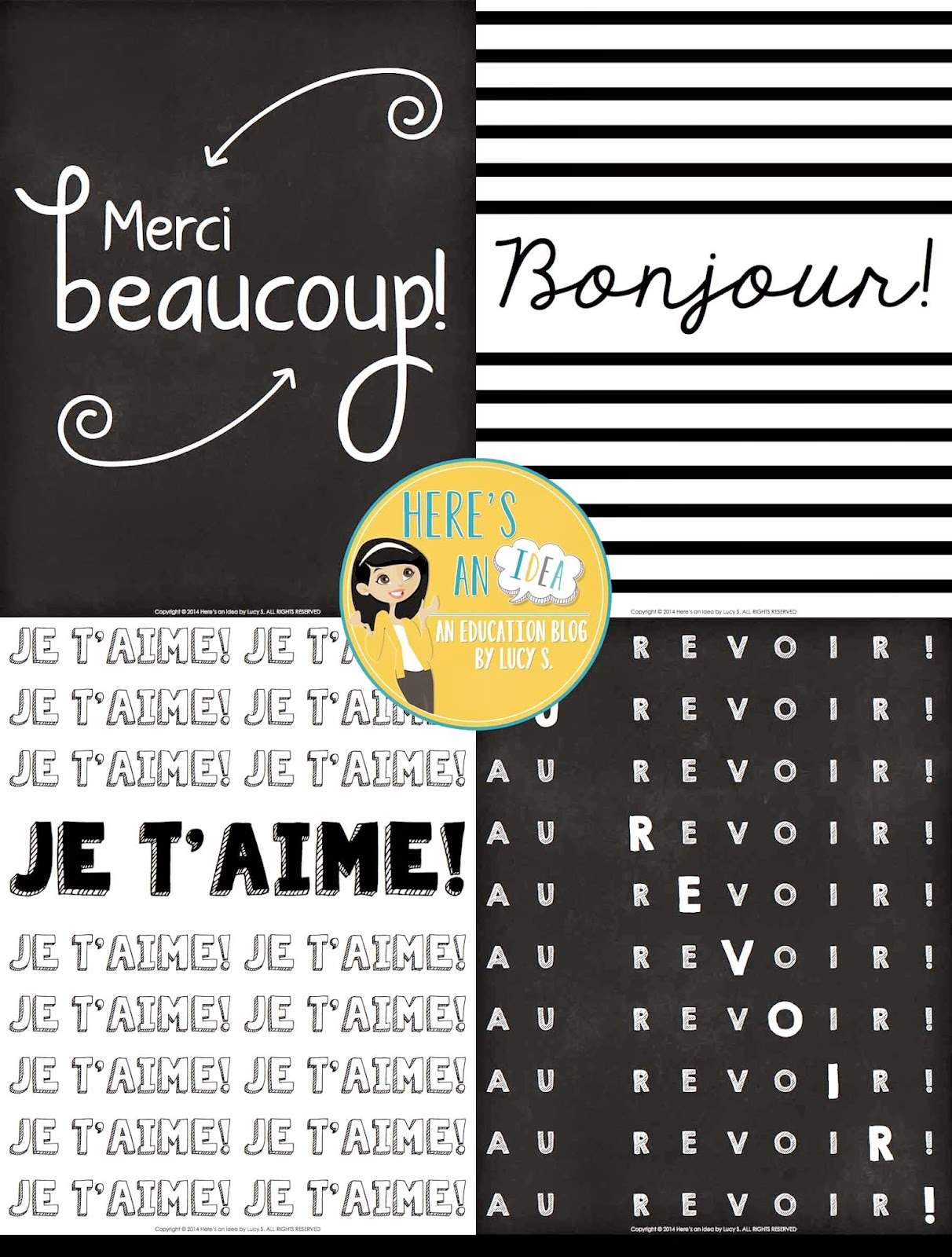 Free set of French posters - link in Facebook page