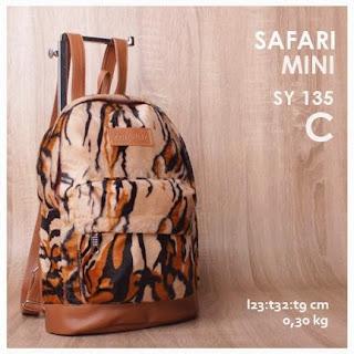 jual online tas ransel mini corak leopard terbaru harga murah
