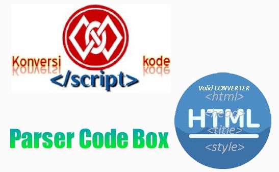 cara membuat tool box parser kode html di blog . Sebagai contoh