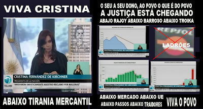 Presidenta Cristina Fernandez de Kirchner; Discurso; Televisão; Televisão Argentina; Argentina; Expropriação Total de YPF; Companhia; Repsol