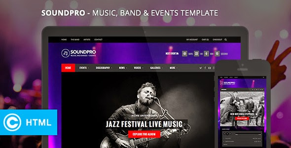Responsive Music Band and Event Template