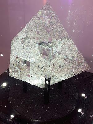Big chunk of crystal on display at Swarovski Store in Vienna