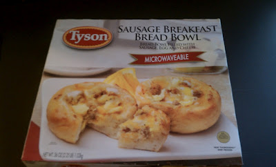 breakfast, on the go, tyson bread bowl, sausage, microwave