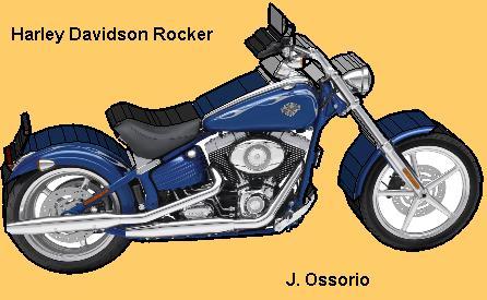 Harley Davidson Rocker Papercraft