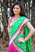 Pujitha sizzling in half saree-thumbnail-8