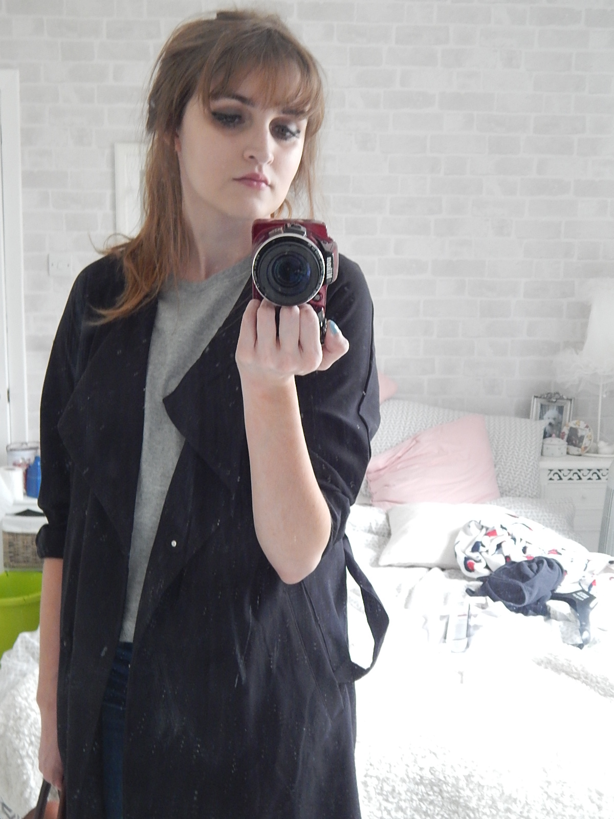 burgundy new balance 420 fashion blogger