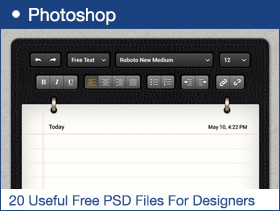 20 Useful Free PSD Files For Designers